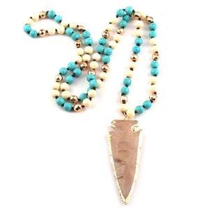 Jewelry - BOHO  Arrowhead Pendant  Statement Necklace